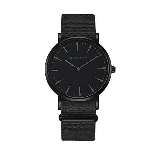 JOESON LEADERS Damen Uhr Analog Quarz mit Nylon Armband -