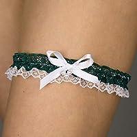 Giarrettiera di pizzo nozze matrimonio sposa biancheria intima regali de nozze verde bianco