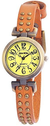 alain-miller-mujer-reloj-reloj-de-pulsera-verde-menta-pulsera-de-piel-25-cm-marron-rp3715780001
