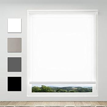 Tageslichtrollo Klemmfix Rollo Ohne Bohren Fensterrollo Lichtdurchlässig  Für Fenster Weiß, 90 X 170 Cm