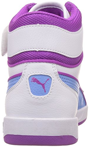 Puma Liza Mid, Sneakers Hautes fille Blanc (White/Little Boy Blue)