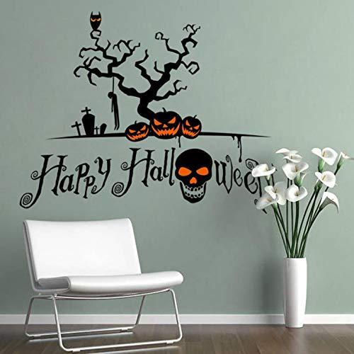 andaufkleber kinderzimmer Aufkleber Kinder Tieren Schlafzimmer Wohnzimmer Hintergrund Roman Halloween Kürbis Cartoon Fenster Dekor ()