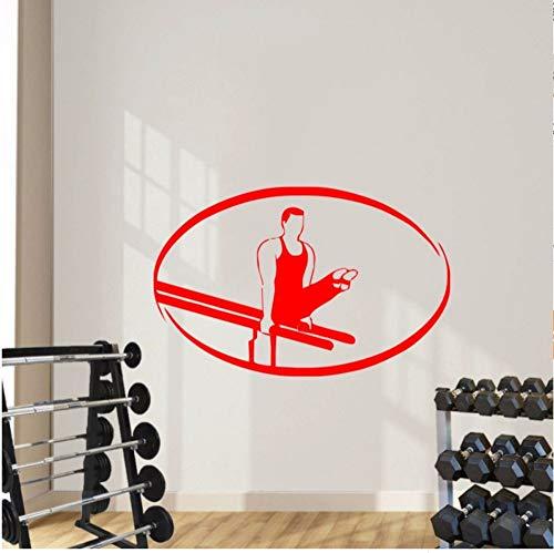 Zxfcczxf Männliche Tun Rhythmische Gymnastik Silhouette Tapete Sport Series Wandaufkleber Home Schlafzimmer Kreative Dekor Mann Gymnastik Wandbild42 * 66 Cm