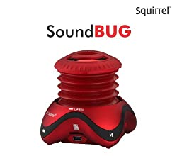 Squirrel SoundBug Portable Speaker (Red)