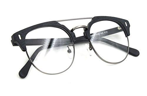 Herren / Damen Aviator Stil Brillenfassung Brillengestelle mit Mustergläser