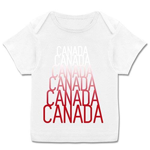 Mädchen In Städteamp; 749 Kurzarm MonateWeiß Farben 68 Und Jungen Verschiedenen Canada Fan Für Shirt E110b Baby Länder e2E9IYbWHD