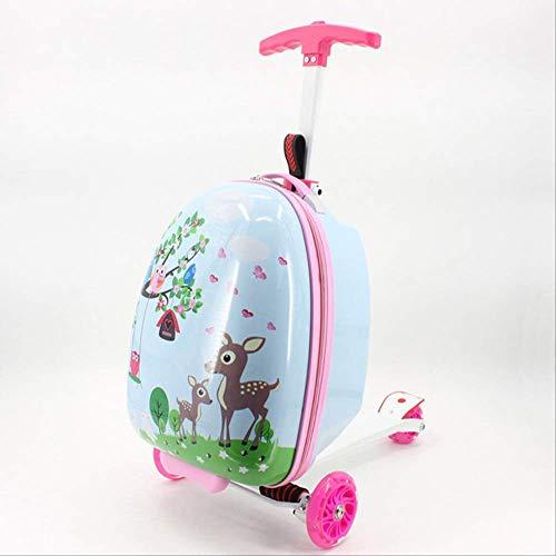 Valigia Per Bambini DXWF Kid Scooter Valigia Valigia Bagaglio Bagaglio Per Bambini Bagaglio Bagaglio Portabagagli Scuola Borsa Trolley Scatola Con Ruota 50-25-35 cm Come mostrato