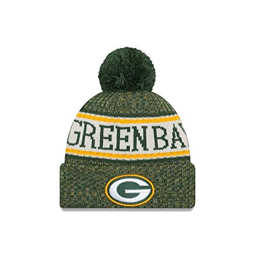 New Era ONF18 Sport Knit Bommelmütze Green Bay Packers Grün, Size:ONE Size