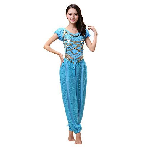 Aladdin Und Jasmine Halloween Kostüm - Hzjundasi Damen Bauchtanz Kostüm Set -