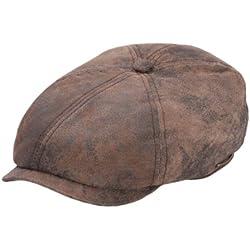 Stetson - Boinas - gorra plana cuero hombre Mccook Pigskin