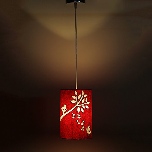Singing Birds Red and White Modern and Decorative Hanging Lamp