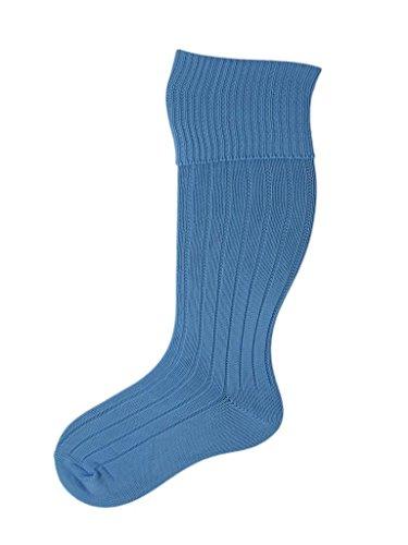 SocksAndTights 4 Paar Fußball-Rugby-Hockey-Socken, hergestellt in Großbritannien, für Jungen und Mädchen Gr. 20-25 Jugend/Erwachsene, blau -