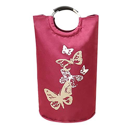 Show famiglia cesto della biancheria di grande capacità,pieghevole impermeabile panno oxford giocattolo & vestiti sporchi borsa di conservazione con manico in lega,red