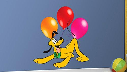 Kostüme Diy Superhelden Hund (Pluto Wandaufkleber Dekor Decal Kunst für Kinder Schlafzimmer)
