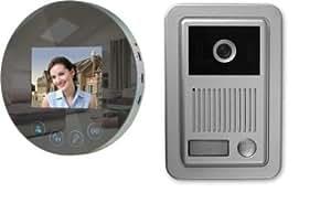 video t rsprechanlage gegensprechanlage mit kamera klingel aufputz monitor namenschild amazon. Black Bedroom Furniture Sets. Home Design Ideas