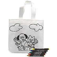 DISOK Lote 20 Bolsas para Colorear Ideal para Regalos de cumpleaños, comuniones, colegios,