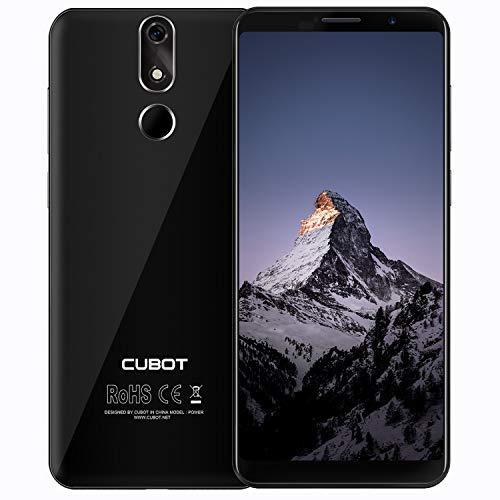 Cubot Power 4G-LTE Dual SIM Smartphone ohne Vertrag 5.99 Zoll (18:9) IPS FHD+ Touch Display mit 6000 mAh Akku 6GB Ram+128GB interner Speicher Android 8.1 20MP Hauptkamera / 13MP Frontkamera (Schwarz)