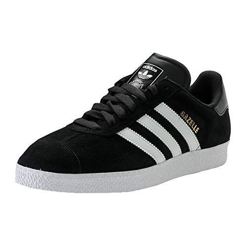 adidas Zapatillas de piel para hombre, color negro, talla 43