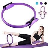 HINATAA Anneau de Pilates Résistance Pilates Yoga Double Poignée Exercice Fitness Circle pour Brûler la Graisse 12,7 cm/39 cm, Violet