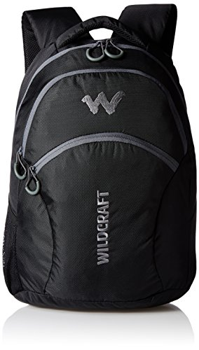 Wildcraft Polyester 330 mm Black Laptop Bag (8903338051947) 41Wk6Y8Gq4L