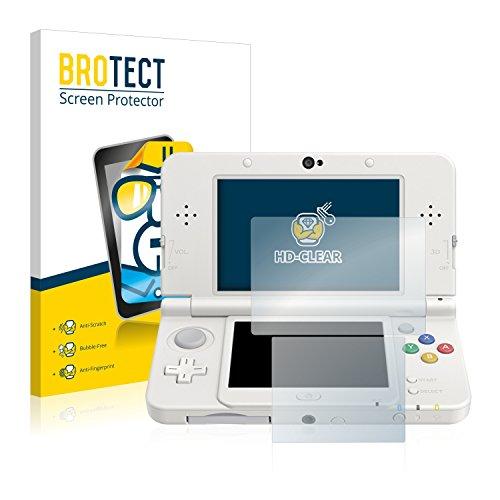 BROTECT Schutzfolie kompatibel mit Nintendo New 3DS [2er Pack] - kristall-klare Displayschutz-Folie, Anti-Fingerprint
