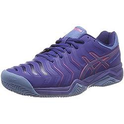 Asics Gel-Challenger 11 Clay, Zapatillas de Tenis para Hombre, Azul (Blue Print/Red Alert 400), 41.5 EU