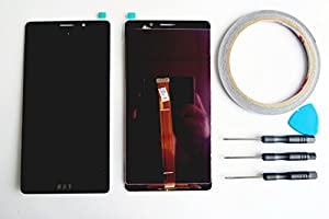 For Huawei Ascend Mate 8 LCD Display Touchscreen Digitizer Schwarz+Werkzeug & Klebeband