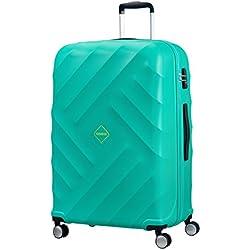 American Tourister Crystal Glow Spinner 76/28 TSA Maleta, 91 litros, Color Turquesa