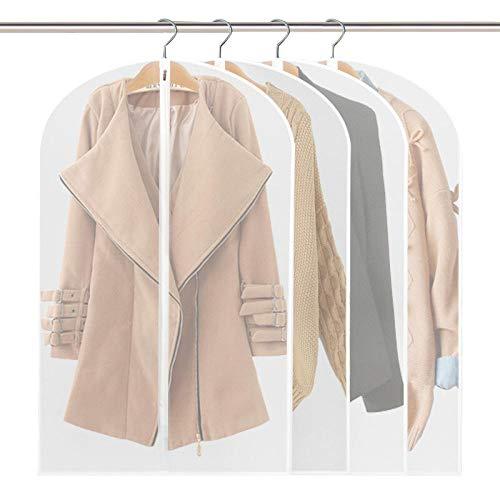 humeng Kleiderschutzbeutel 5 Kleidung Schutzumschlag Waschbar Mantel Feuchtigkeitsabdeckung Anzug Jacke Hängen Kleidersack Aufbewahrung Staubbeutel - Waschbar Anzug Jacke