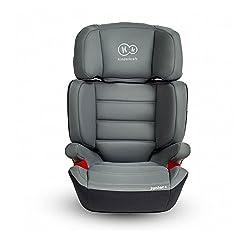 Kinderkraft Junior PLUS OX Kinderautositz Kindersitz mit Cupholder 15-36 kg Gruppe 2 3 (Grau)