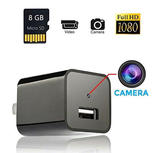 The perseids,Cámaras ocultas del cargador de la pared del USB de 1080P HD, Mini Cámaras Espía Adaptador Portátil Kleine Cámara Vigilancia USB Cámara Detector de Movimiento