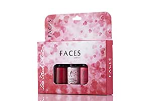 Faces Nail Lacquer Kit, Love Struck Collection, 18ml