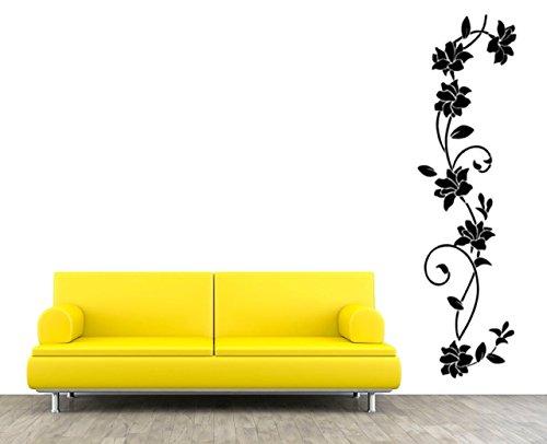 Wandtattoo Wohnzimmer Blumenbanner Blumenranke Ornament Schlafzimmer Aufkleber Sticker