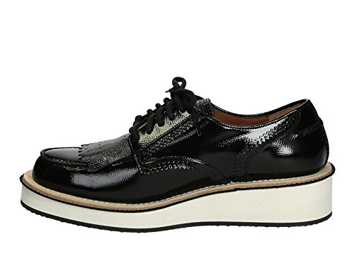 Chaussures à lacets Givenchy femme en cuir verni noir - Code modèle: BE08181087 Noir