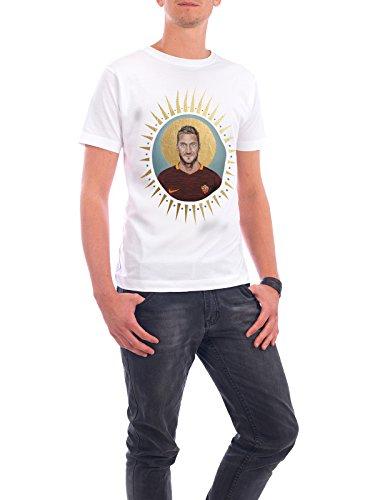 """Design T-Shirt Männer Continental Cotton """"Ikone Totti (2016)"""" - stylisches Shirt Sport / Fußball Menschen von David Diehl Weiß"""
