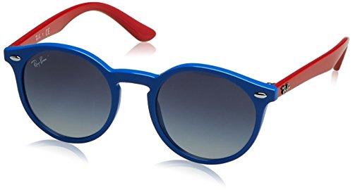 RAYBAN JUNIOR Unisex-Kinder Sonnenbrille 9064s, Blue/Greygradientblue, 44