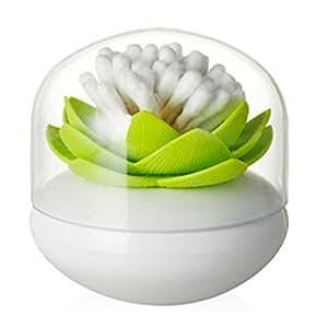 BODHI2000® scatola decorativa porta cotton fioc, a forma di fiore di loto
