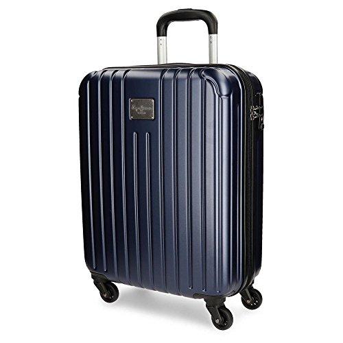 Pepe Jeans 7877753 Color Stripes Equipaje de Mano, 55 cm, 38 Litros, Azul