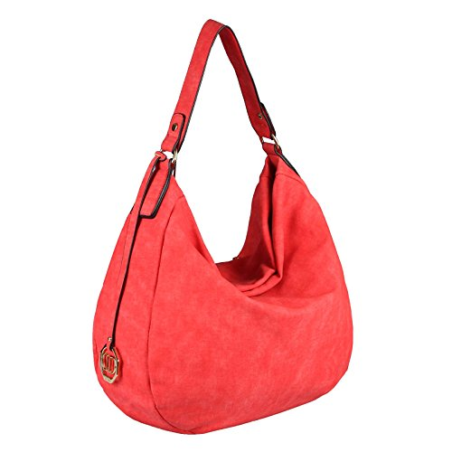 OBC Only-Beautiful-Couture, Borsa tote donna Nero Schwarz V1 ca.: 33x30x12 cm (BxHxT) ROSSO 40x33x13 cm