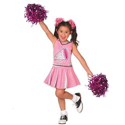 Elf High Kostüm - Mädchen Rosa Anfeuerer Waffenrock Kinder Kostüm Karneval - Groß (9 - 11 Jahre)