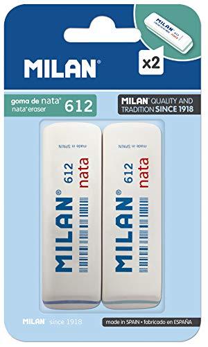 Milan BPM9208 - Pack de 2 gomas de borrar