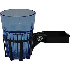 Angerer Getränkehalter für Hollywoodschaukel Vierkant eisengrau, inkl. Becher blau, 980/0004