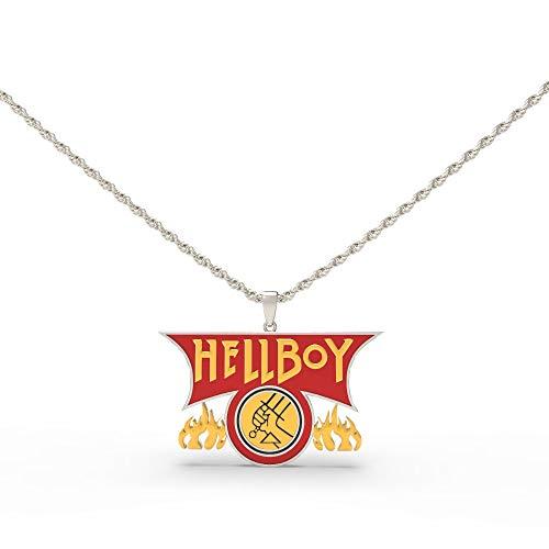 Thons Hellboy Halskette Cosplay Necklace Unisex Kette aus Zinklegierung Kostüm Zubehör