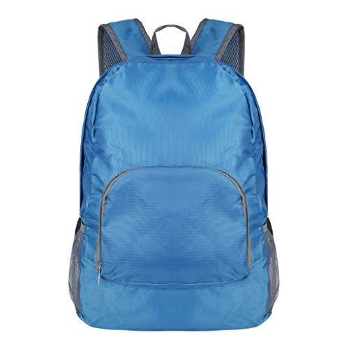 Fuibo Rucksack, Sportrucksack Wanderrucksack Herren Damen Unisex Schultaschen Umhängetasche Handtasche Rucksäcke Schulranzen Schultasche Tasche Travel Sport Outdoor (Sky blue)