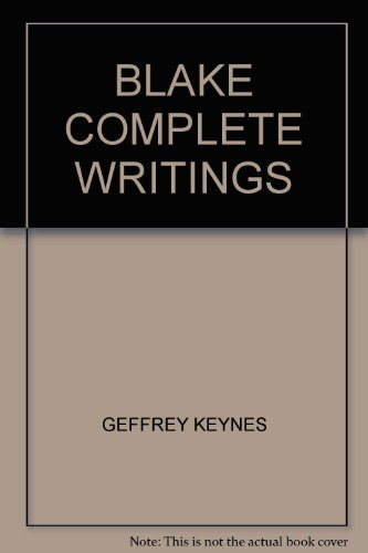 Blake: Complete Writings (With Variant Readings)