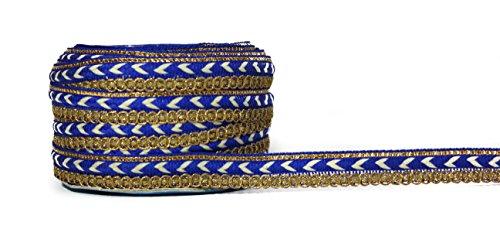 9 Meter Thread Shimmer Work Lace Border Trim for Saree, Blouse Lehenga...