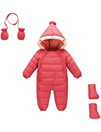 Baby Abajo chaqueta, Stillshine Espeso Invierno Jumpsuit Bebé Unisexo Traje de Nieve Mameluco con Capucha para Invierno Jumpsuit Botas de nieve