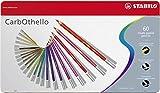 STABILO CarbOthello - Lápiz de color tiza-pastel - Caja de metal con 60 colores
