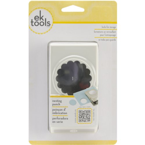Dimensions Maße EK Success Scallop Circle Punch Maschine 13/4-Zoll -