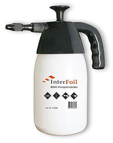 INTERFOIL Basic Druckpumpzerstäuber 1 Liter Drucksprüher Druckpumpflasche Sprühflasche Pumpsprühflasche Sprayer